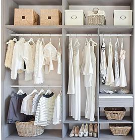 Wardrobe declutter and organisation