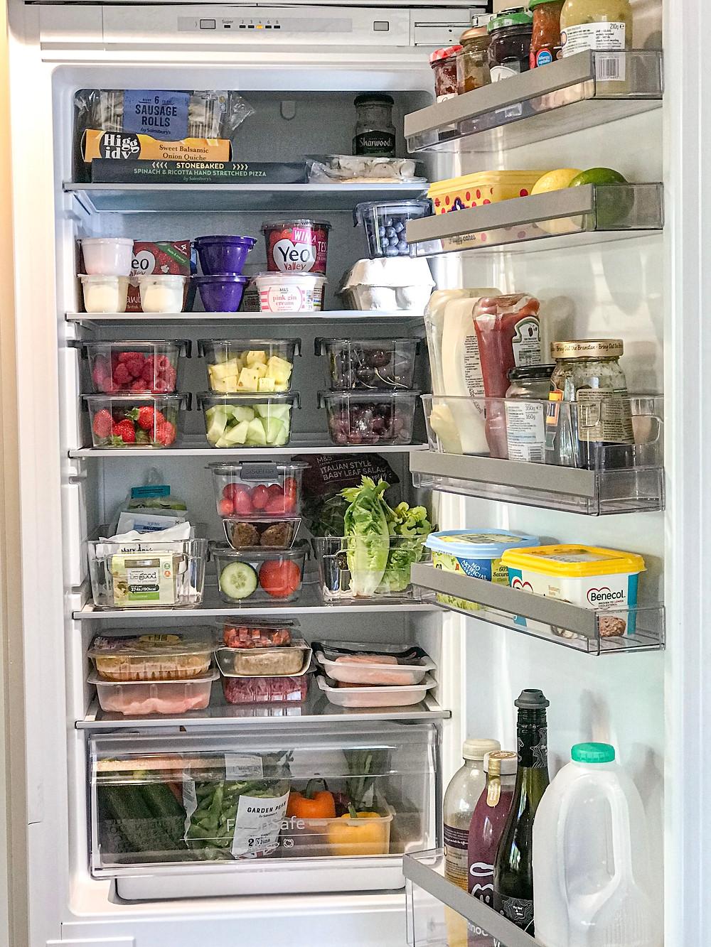 Organised fridge - Organising Tips for a KonMari Fridge