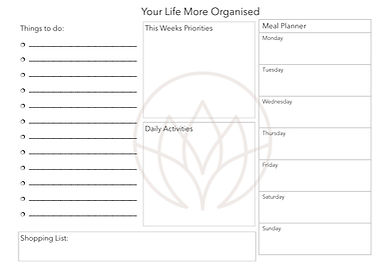 Weekly Planner - A Life More Organised