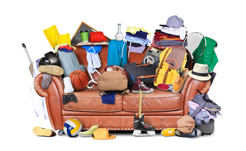 Cluttered Sofa