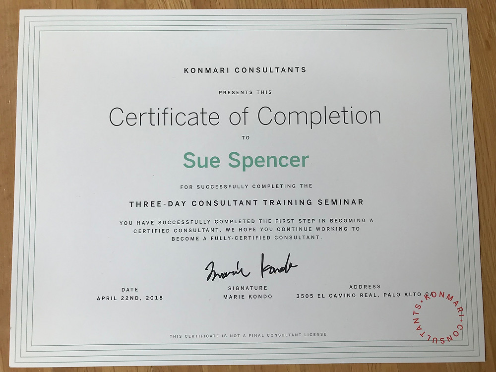 KonMari Training Certificate