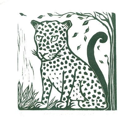 Falling Leaves Leopard