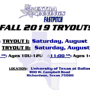 Fall 2019 Fastpitch Tryouts