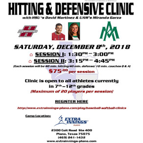 Henderson State Hitting/Defensive Clinic