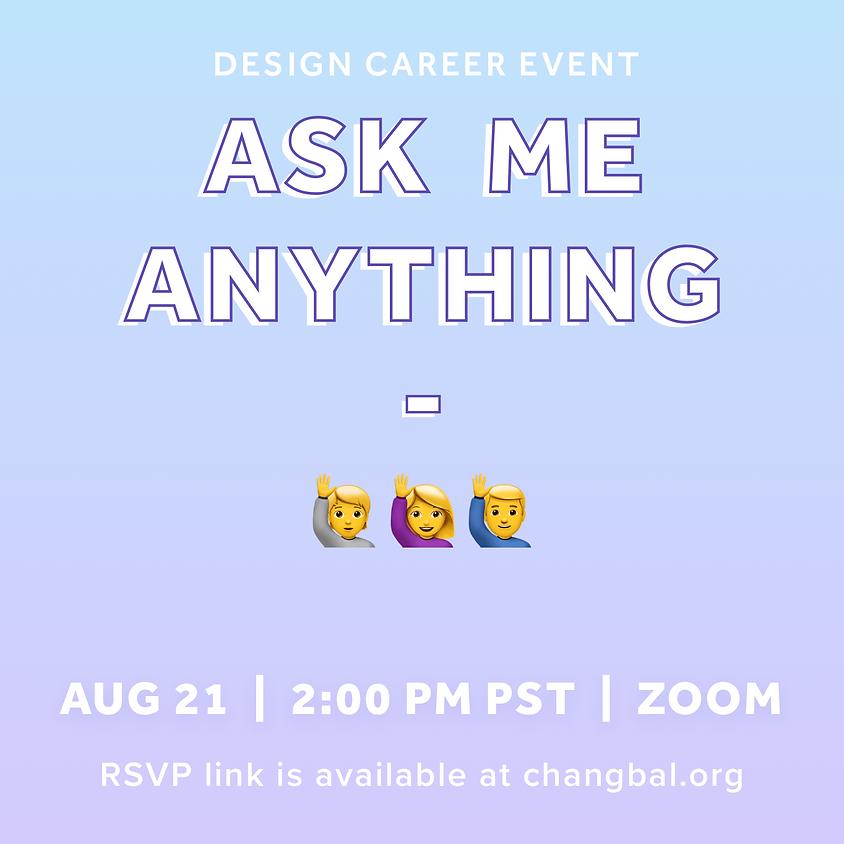 [디자인 소그룹] Ask Me Anything: Career Talk