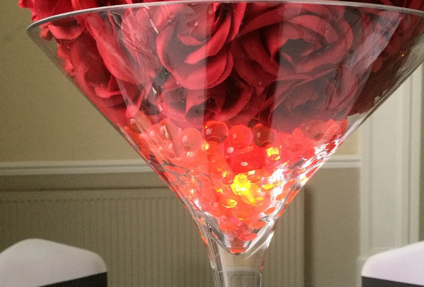 Clear Martini Vase