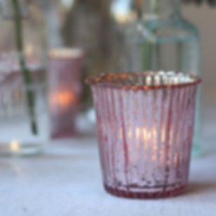 blush_pink_tea_light_holders_ribbed_glas