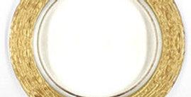 Metallic Edge Glass Charger Plate
