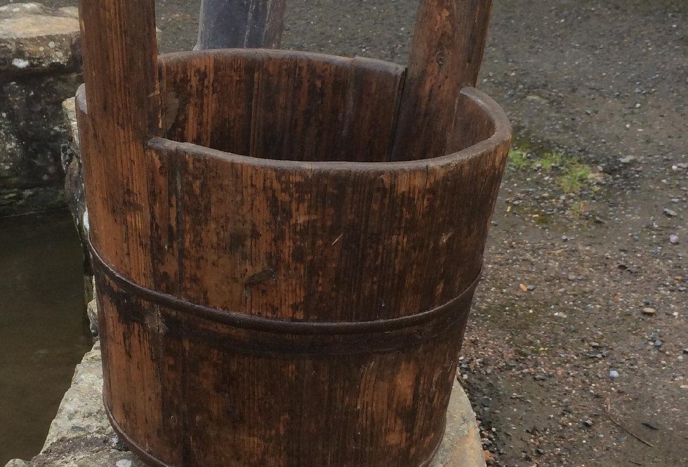 Vintage Wooden Pail