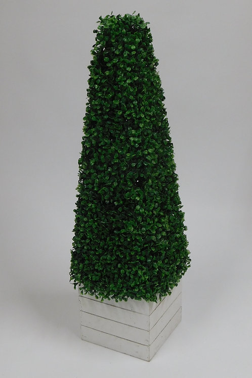 Artificial Topiary Tree in White Cube Box