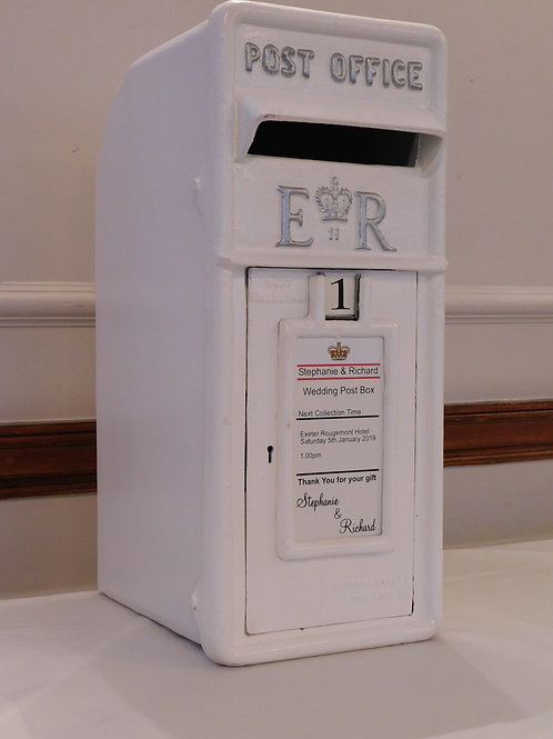 White Cast Iron Royal Mail Postbox
