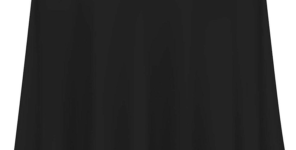 "70"" x 108"" Black Rectangular Table Cloth"