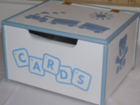 Handcrafted baby card box