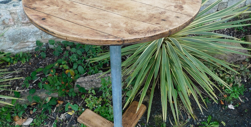 Rustic Handmade Industrial Poseur Table