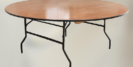 6 Ft Round Banqueting Table