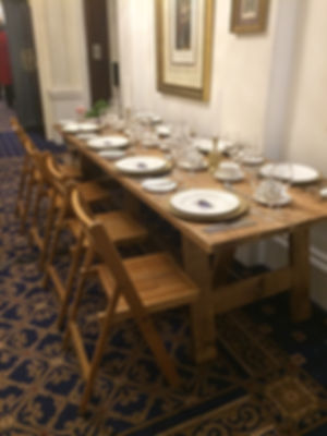 8Ft Rustic Trestle Table