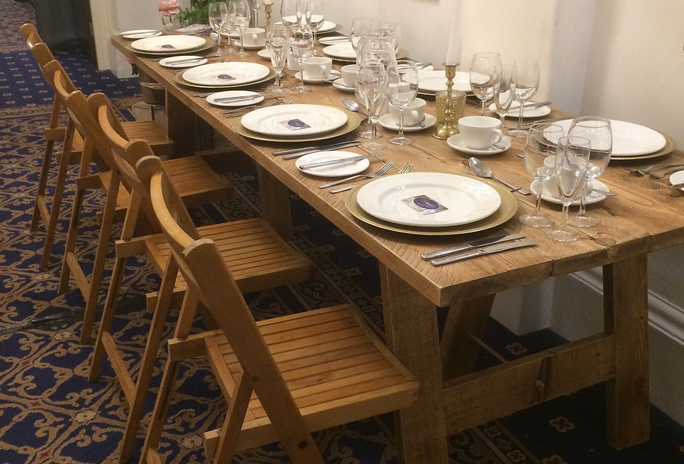 8ft Rustic Vintage Banqueting Tables