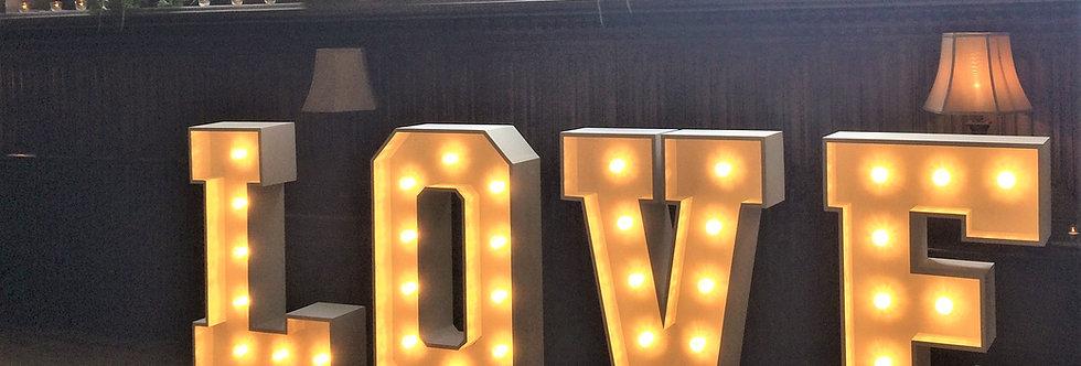 4ft -  Illuminated L.O.V.E Letters