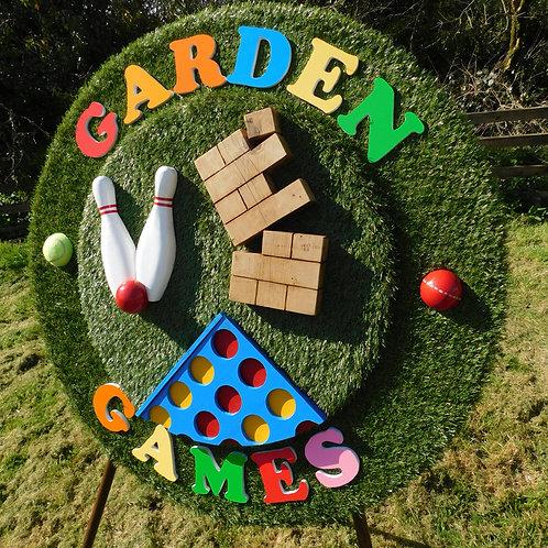 Garden Game 3D Sign