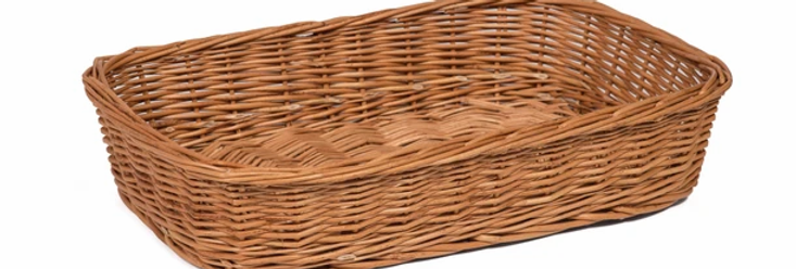 Wicker Basket - 39cm x 26cm x 8cm