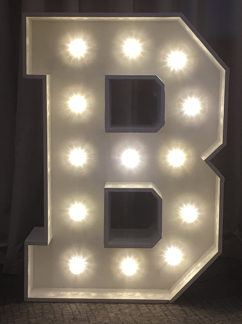 4ft Illuminated Initial Letters & Numbers