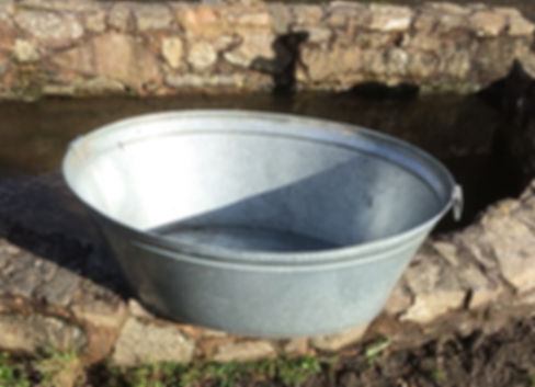 Vintage Galvanised Bath to Hire - Coutts Events