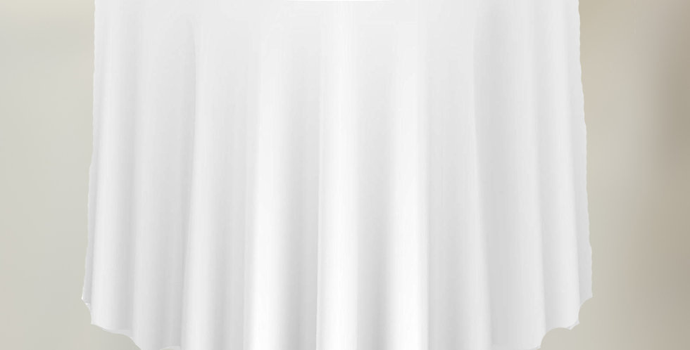 "108"" White - Round Table Cloth"