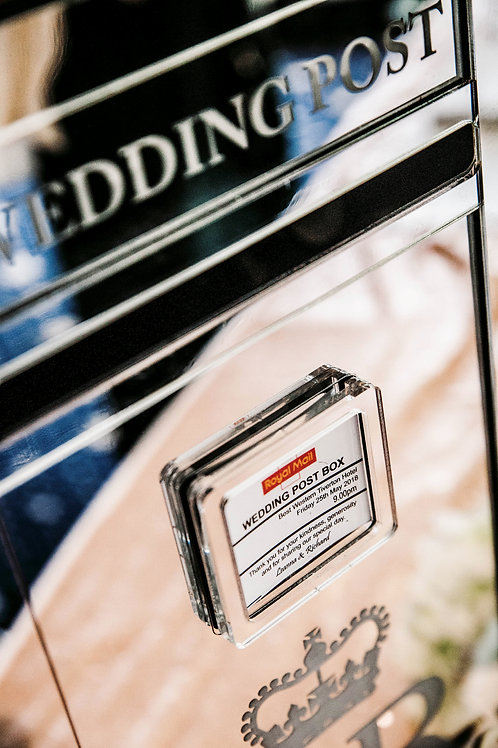 Silver Mirrored Postbox