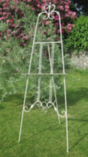 Metal Cream Easel for Hire