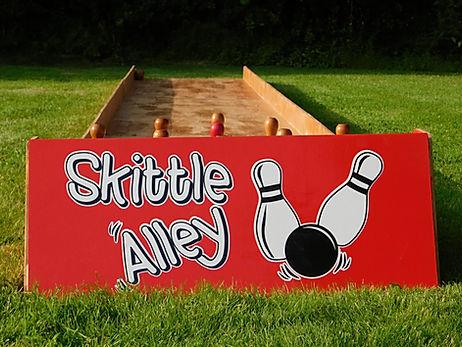 Giant Indoor Skittle Alley