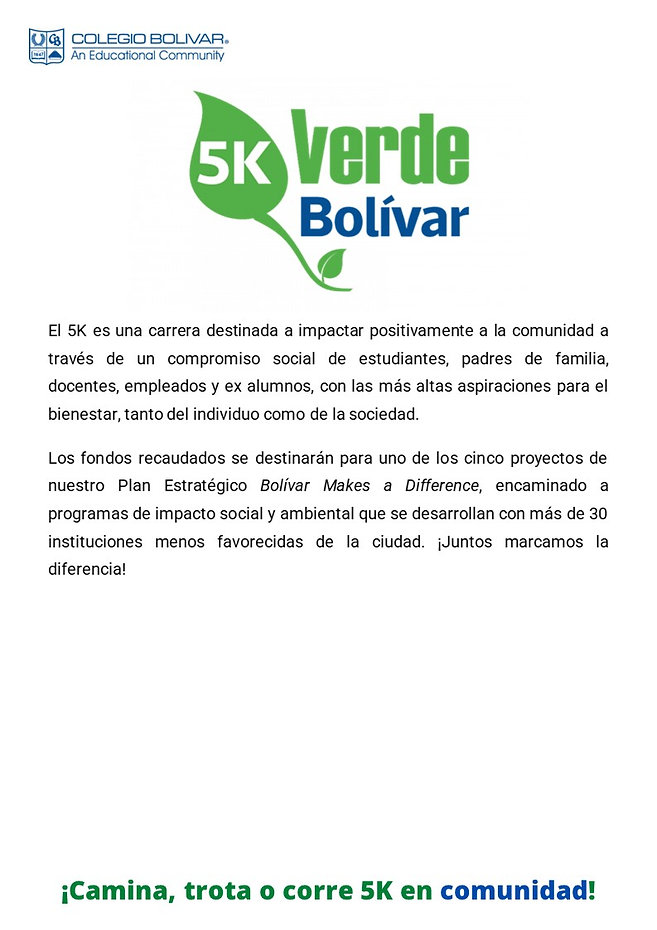 OK Con la 5K Bolívar marca la diferencia