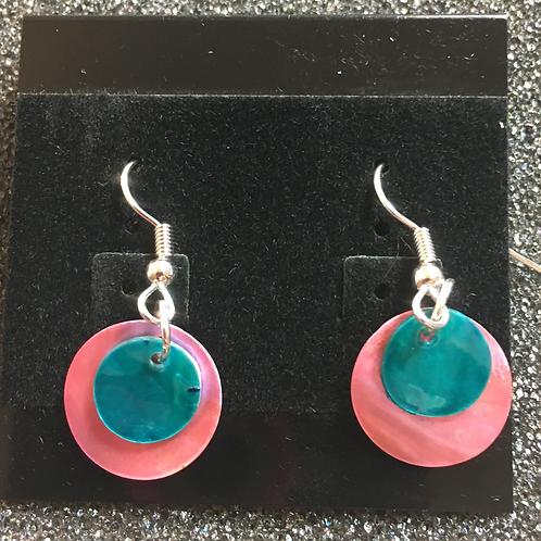 Double capiz shell earrings