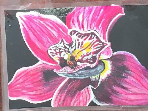 Magneta cymbidium orchid magnet