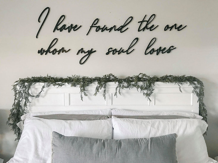 My Soul Loves 3D Wall Quote