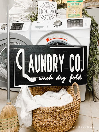 3D Laundry Co. Sign