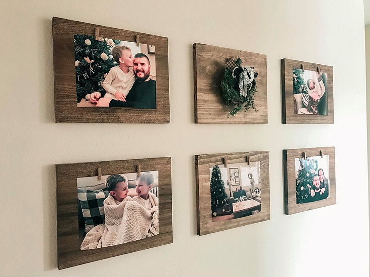 Rustic Photo Board Gallery Wall (set of 7)
