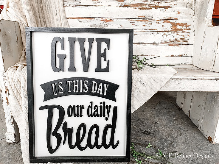 3D Daily Bread Framed Sign