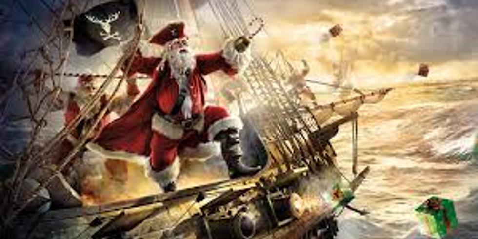 Santa Pirate at the Docks
