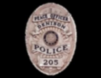 Denison, TX Custom Police Badge