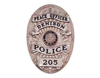 Denison, TX Custom Police Badge