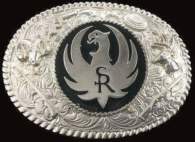 Silver Ruger Custom Belt Buckle