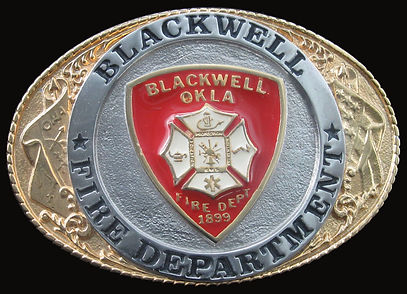 Blackwell Fire Department Buckle
