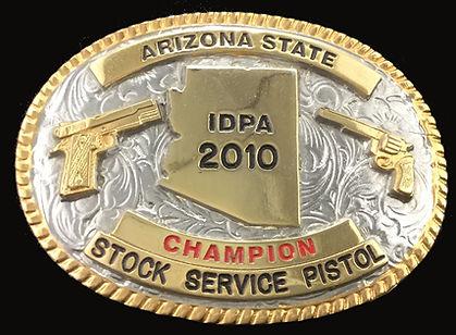 Arizona State Stock Service Pistol Custom Belt Buckle