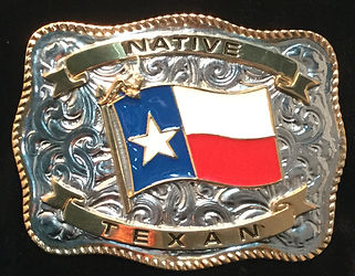Native Texan Belt Buckle