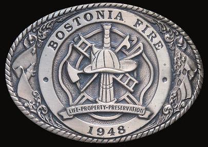 Bostonia Fire Department Custom Belt Buckle