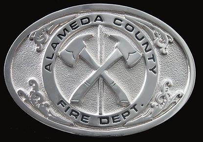 Alameda County Fire Department Custom Belt Buckle