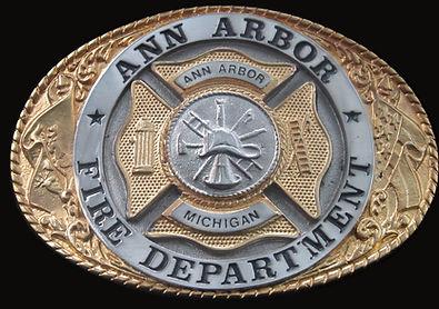 Ann Arbor Michigan Fire Department Custom Belt Buckle