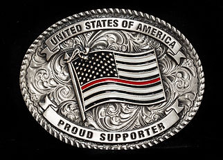 USA Thin Red Line Buckle