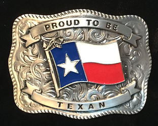 Proud To Be Texan Buckle
