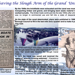 Saving The Slough Arm of the Grand Union Canal.